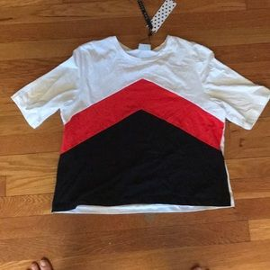 ASOS Noisy May black red and white crop top